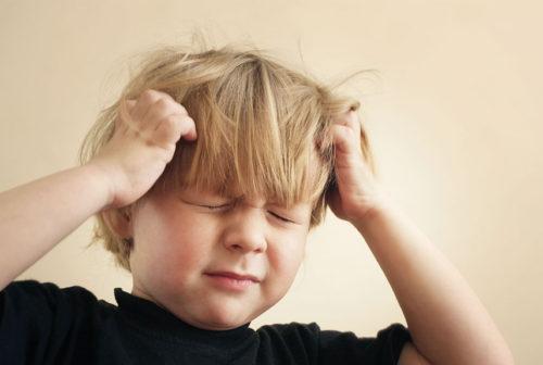 Niños víctimas del estrés