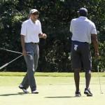 Obama Balances World Crises With Golf, Time Off