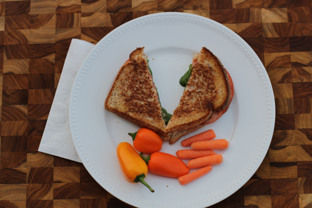 Caprese grilled cheese