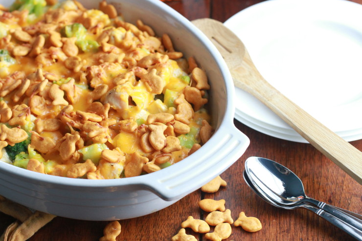 Chicken and Broccoli Casserole with Goldfish