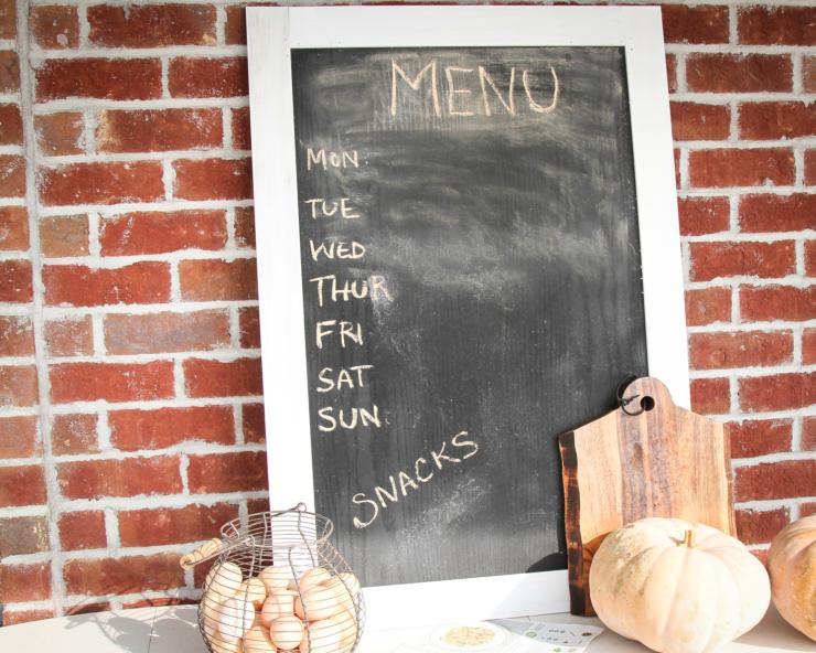 farmhouse chalkboard tutorial