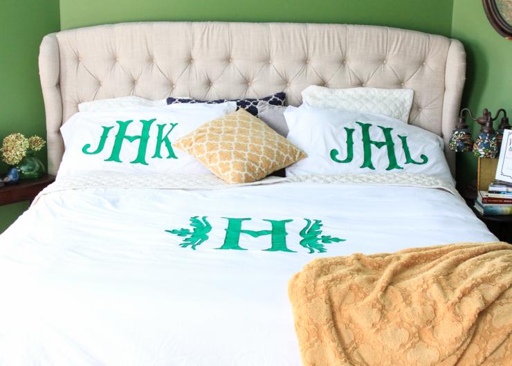 Monogram bedding tutorial