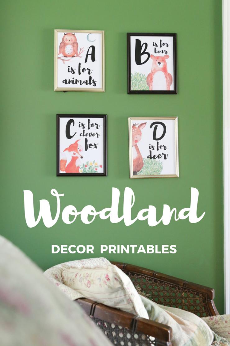 woodland animal printables