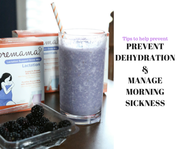 Tips to help prevent dehydration and manage morning sickness
