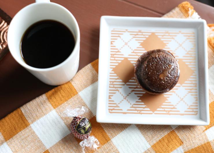 spiced chocolate truffle muffin