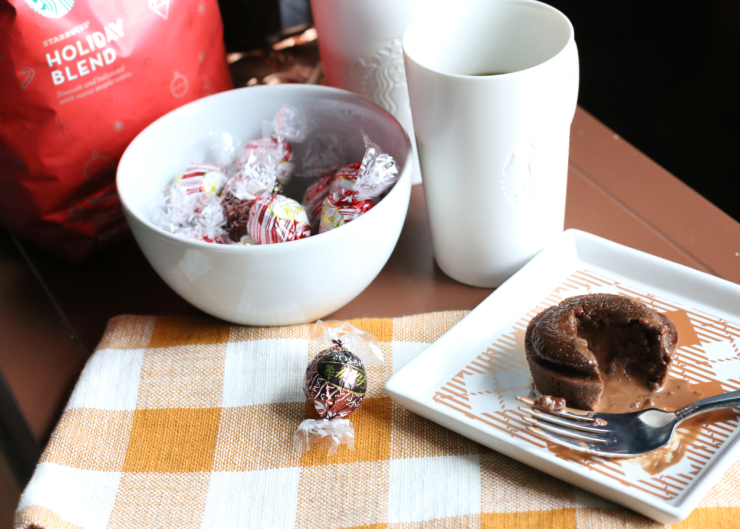 spiced chocolate truffle muffins