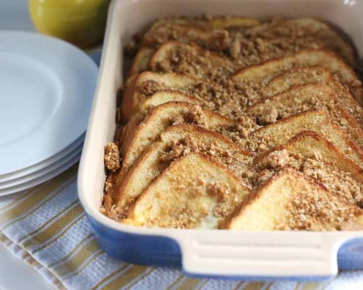 oats n honey baked french toast