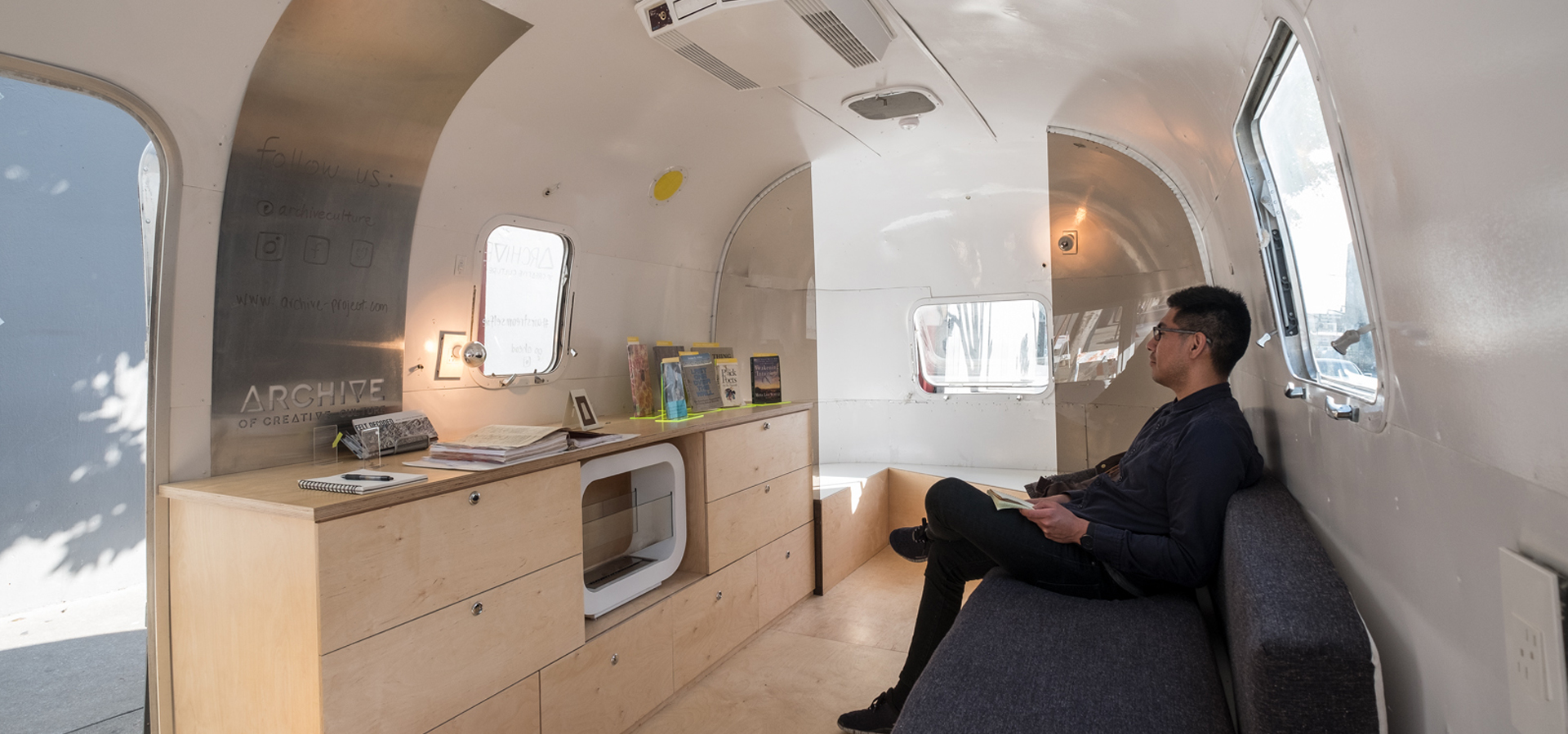View inside of Airstream