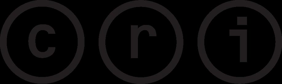 c r i letters inside black circles