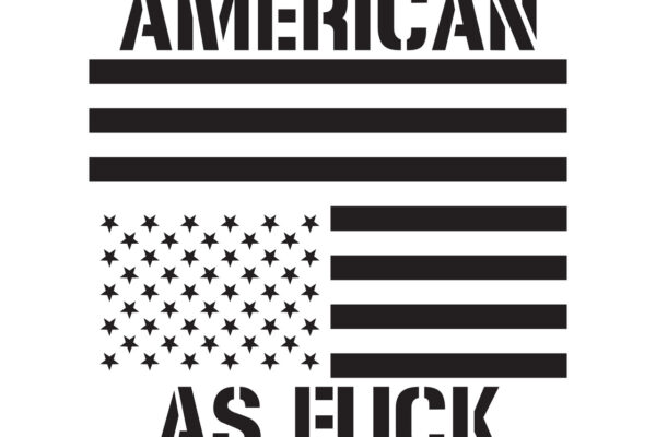 Julia Smith, American As Fuck, 2017, ink, rice paper, linen, wood dowel rods, wire Photo courtesy of the artist