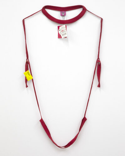 deconstructed shirt to just thread that looks like a necklace