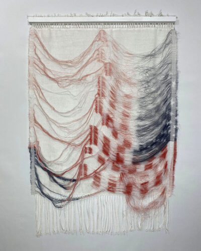 Kimberly English, Blood, Breath, Gradient, 2021, deconstructed t-shirts, cotton Photo courtesy of the artist