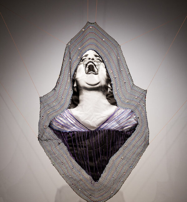Maria Guillen, Morelia Feminicida, 2021, thread on fabric Photo courtesy of the artist