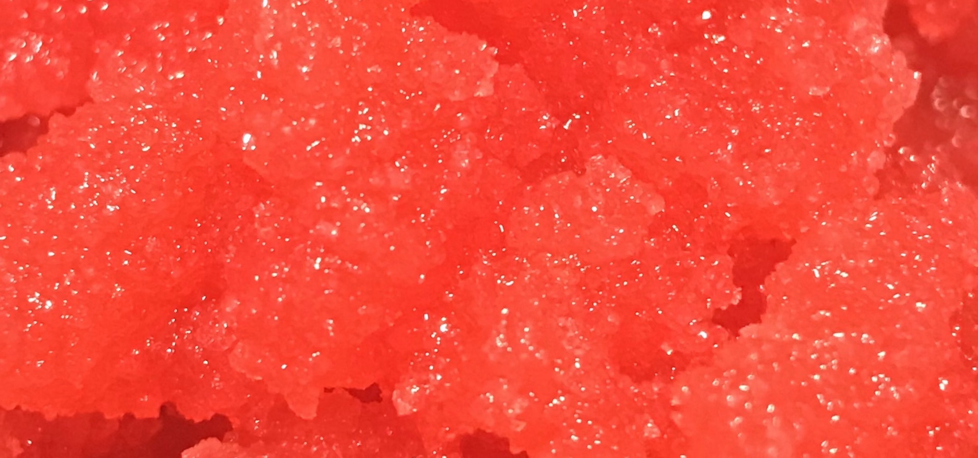 Red crystal rock candy texture