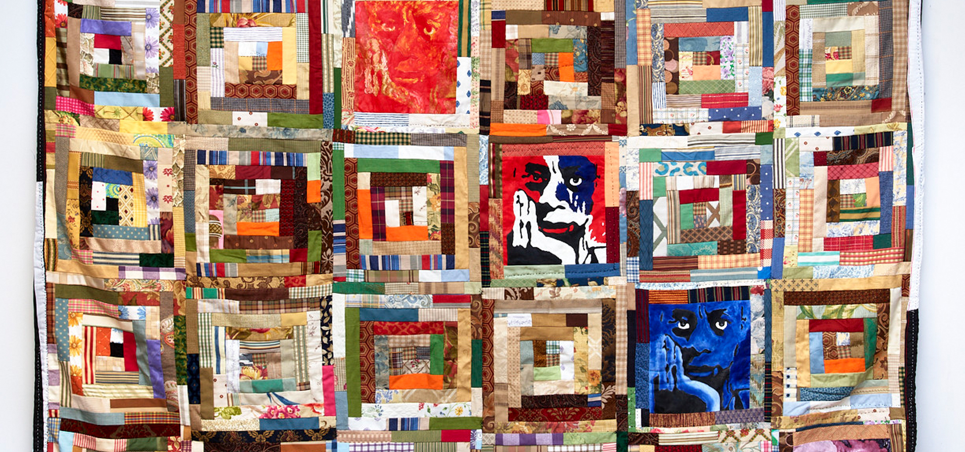 A multicolored quilt