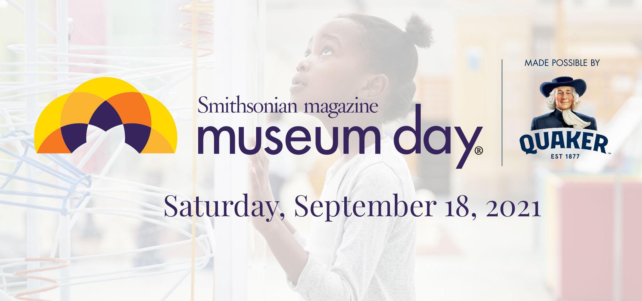 Smithsonian Magazine Museum Day logo with dates