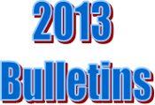 2013 Bulletins