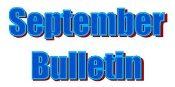 September Bulletin