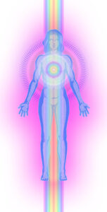 Aura with heart radiance aligned with central channel