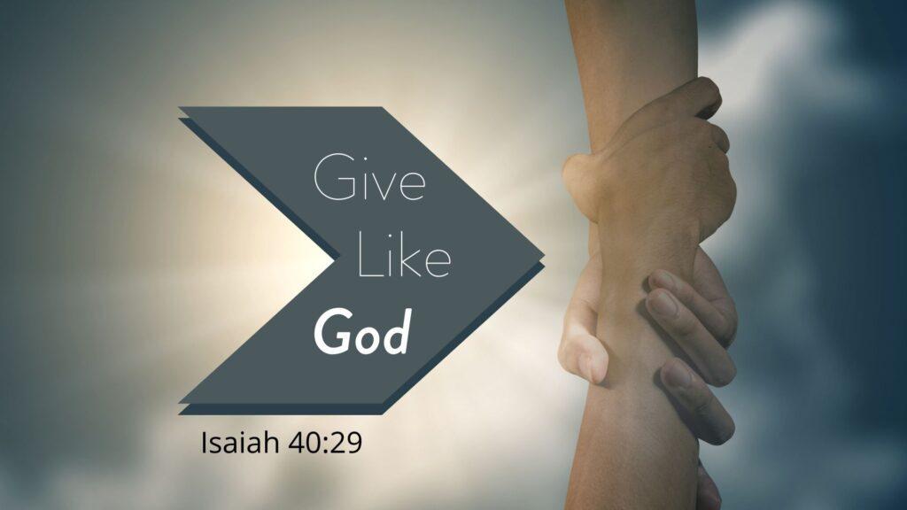 Sermon: Give Like God