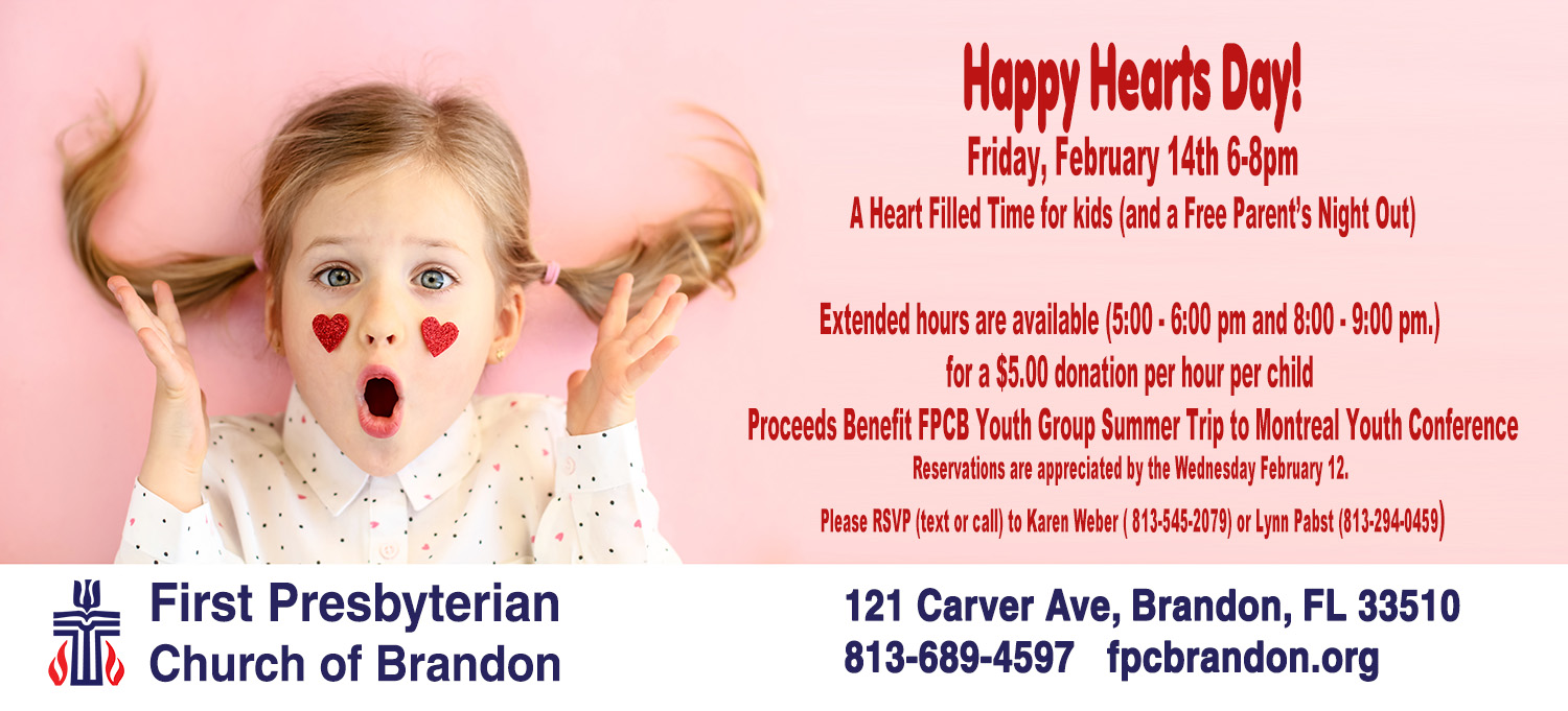 Valentines Day 2020 Free Kids Activity Parents Night Out in Brandon Florida