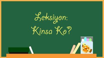 Leksiyon Kinsa Ko Self-introduction lesson plan