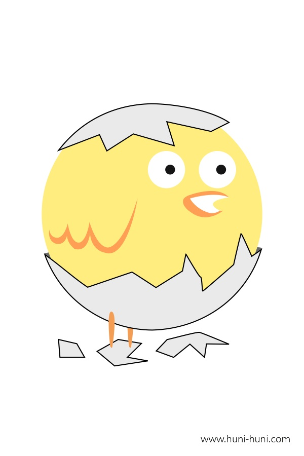 flashcard-color-animal-chick-piso