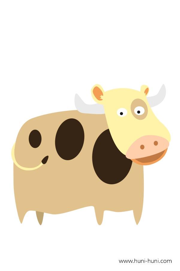 flashcard-color-animal-cow-baka
