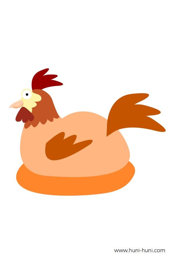 flashcard-color-animals-hen-himungaan