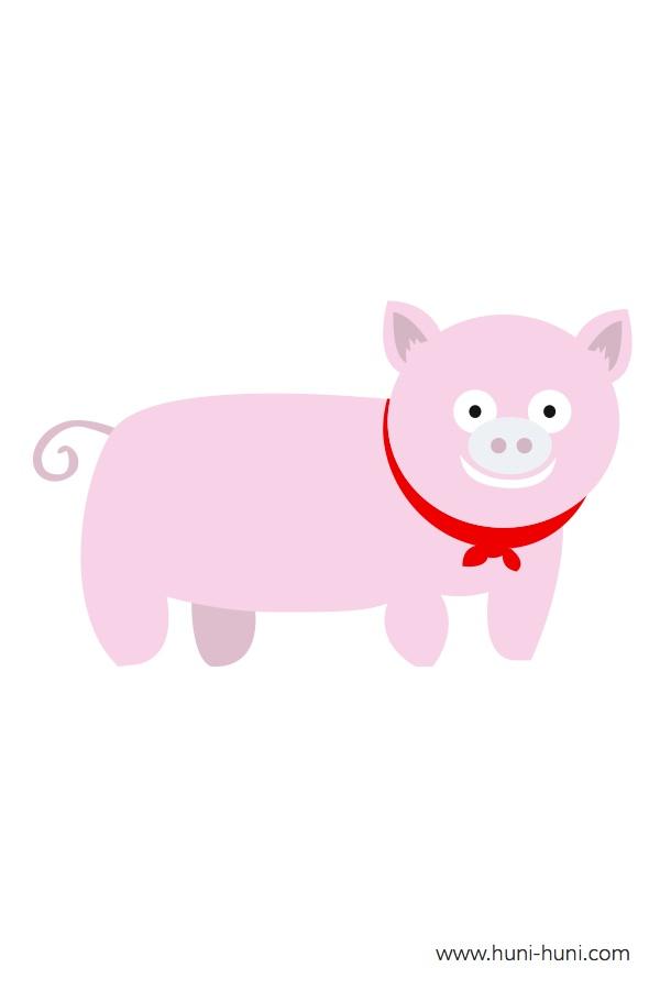 flashcard-color-animals-pig-baboy