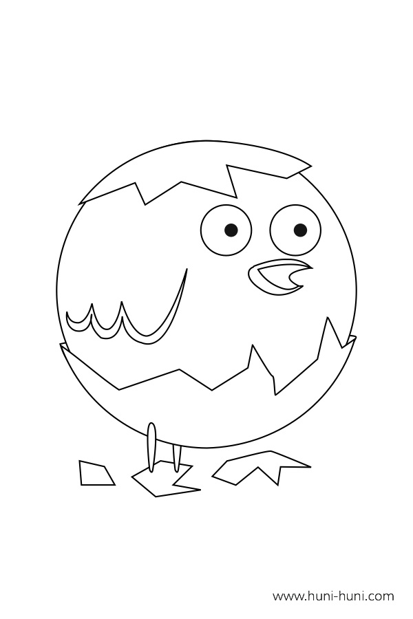 flashcard-coloring-page-outline-animal-chick-piso
