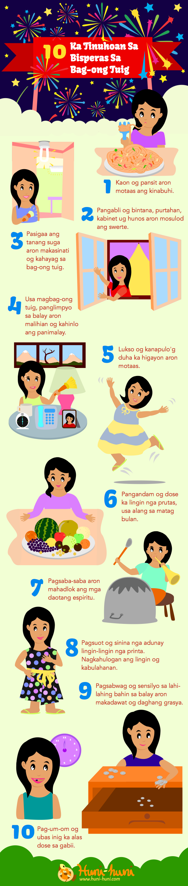 Infographic - New Year's Eve Superstitions in the Philippines