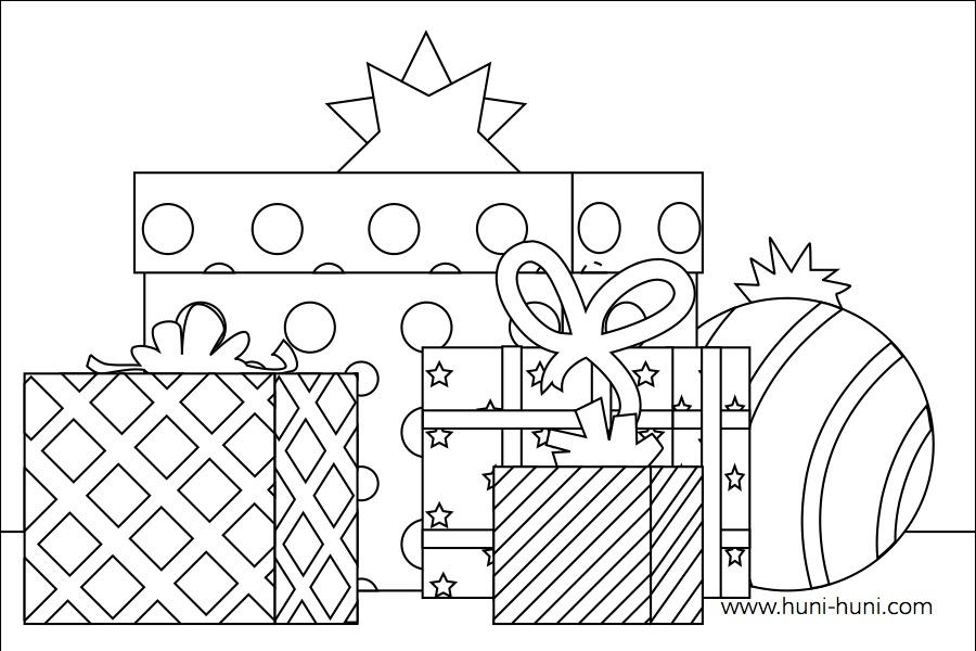 flashcard-coloringpage-outline-pasko-regalo