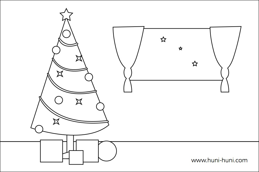 flashcard-outline-coloringpage-pasko-christmastree