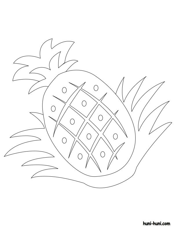 huni-huni-flashcard-coloring-page-outline-pinya-pineapple