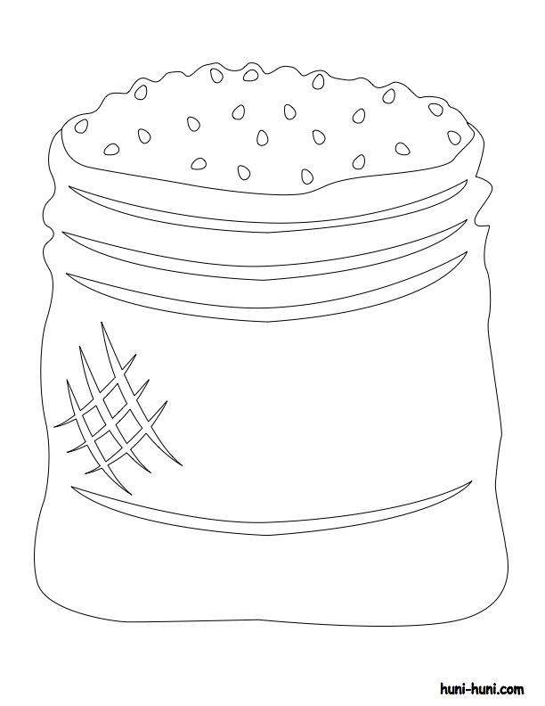 huni-huni-flashcard-coloring-page-outline-sako-sack