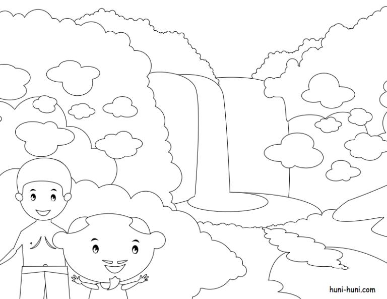 huni-huni-flashcard-coloring-page-outline-MaChristinaFalls-Iligan-City