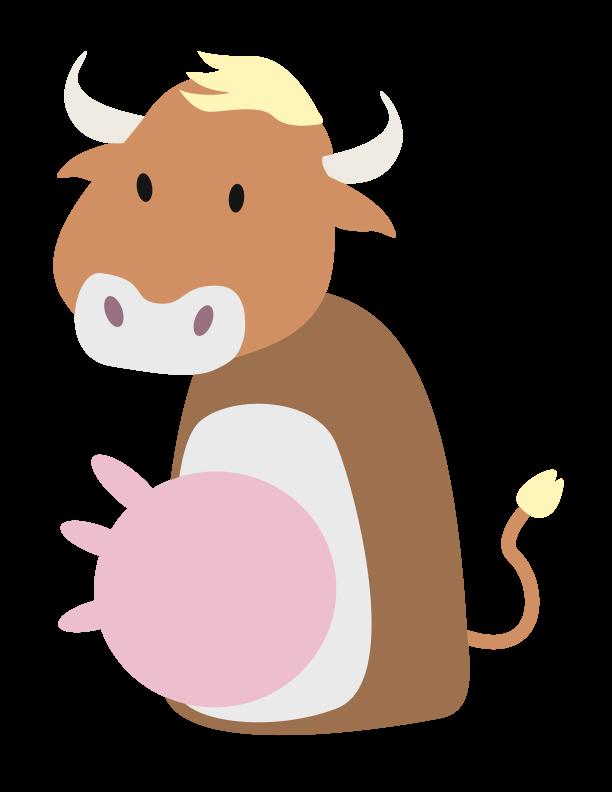 huni-huni-flashcard-colored-baka-cow-fingerpuppet