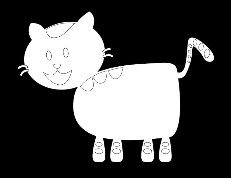 huni-huni-flashcard-coloring-page-outline-iring-cat