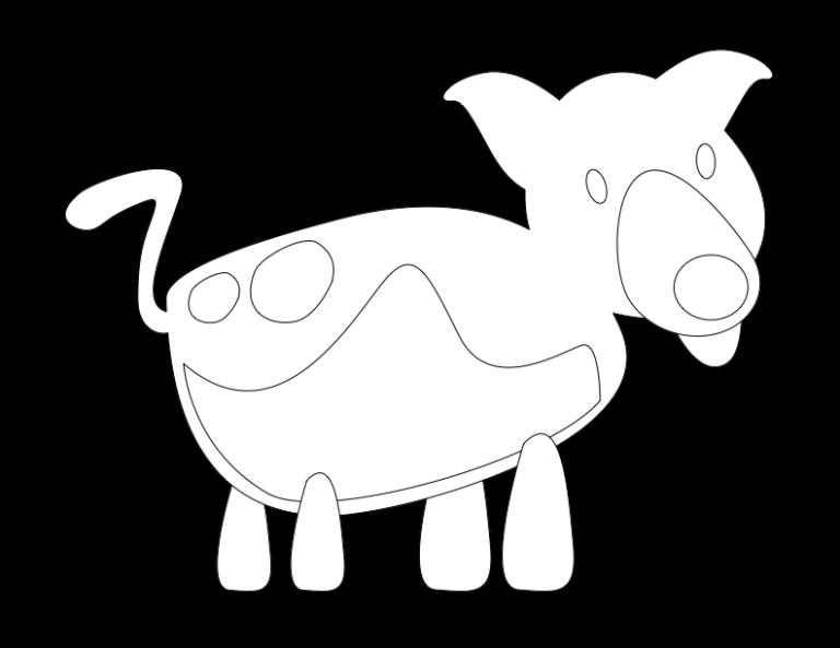 huni-huni-flashcard-coloring-page-outline-dog-iro