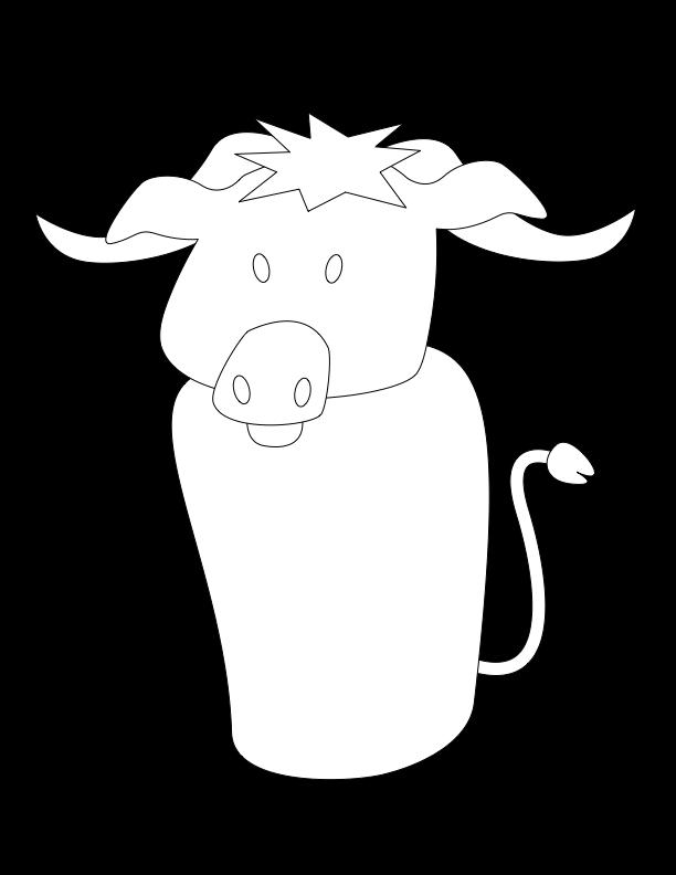 huni-huni-flashcard-coloring-page-outline-kabaw-waterbuffalo-fingerpuppet