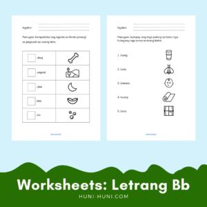 Letrang Bb Sinugbuanong Bisaya Worksheets (Letter B)