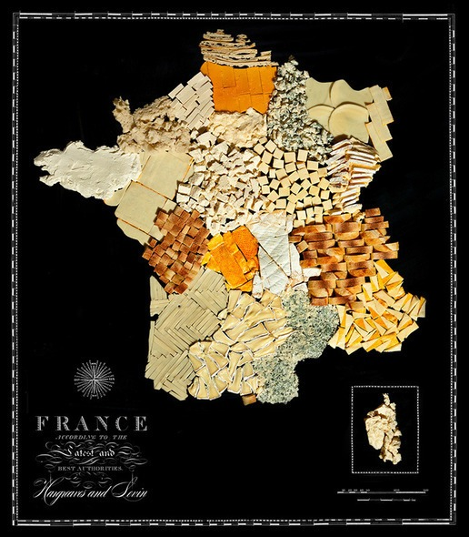 Not interested in geography but LOVE food? Here is the perfect map for you!