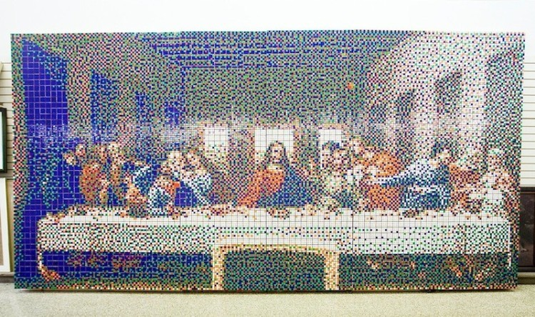 These works of art only have 6 colors each, are impossible to solve, and are amazing!