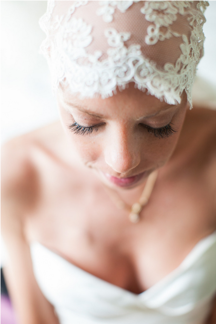 This bride bravely proves that bald is beautiful!
