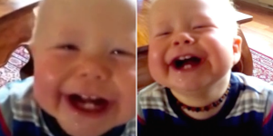 This Baby Can't Stop Laughing At His Dad's Cough—And We Can't Stop Laughing At This Extreme Adorableness!