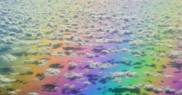Woman Takes An INCREDIBLE Photo Of A Rainbow While She Is Traveling On A Plane