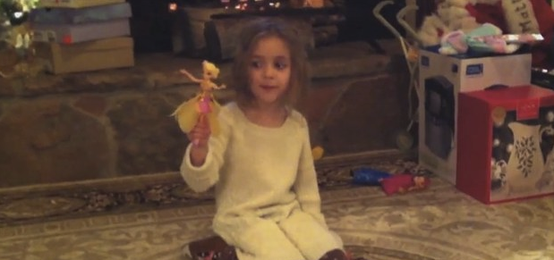 Little Girl's Fairy Toy Has A Mind Of It's Own!