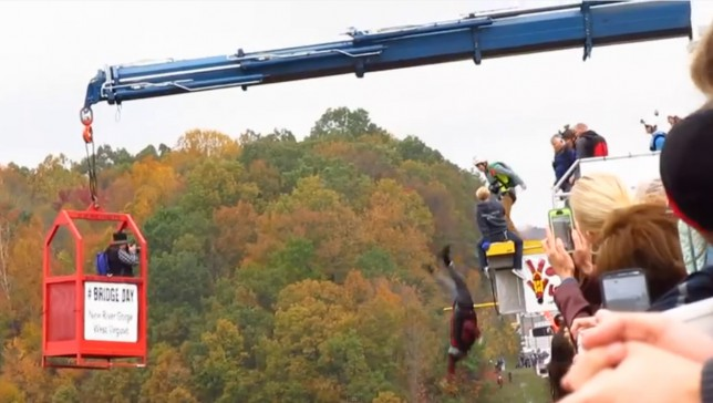 After Attempting To Do A Handstand Before His Base Jump, Man Accidentally Falls From The Bridge (But Don't Worry, He's Okay Now!)
