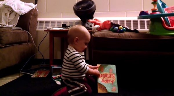 Baby's Reaction To A Singing Birthday Card Is The Cutest Video Of The Day!